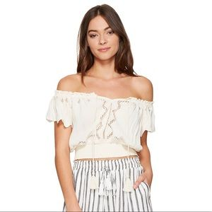 ASTR Reyna Off the Shoulder Cropped Blouse